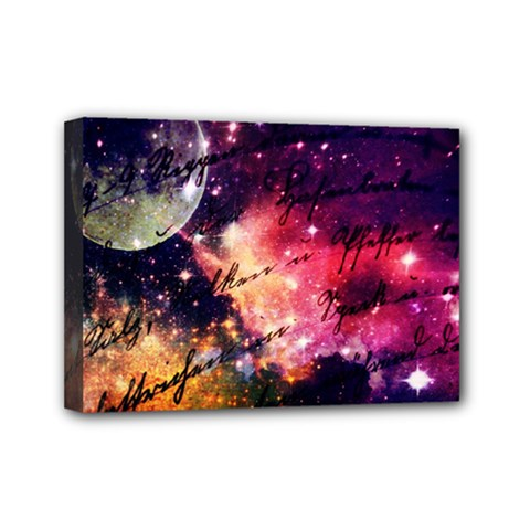 Letter From Outer Space Mini Canvas 7  X 5  by augustinet