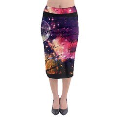 Letter From Outer Space Midi Pencil Skirt by augustinet