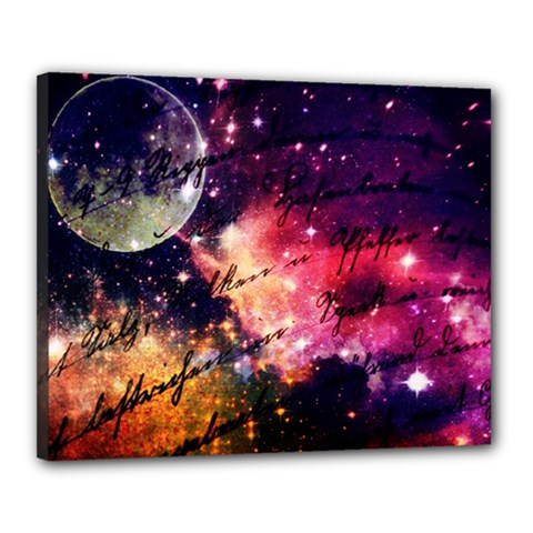 Letter From Outer Space Canvas 20  X 16  by augustinet