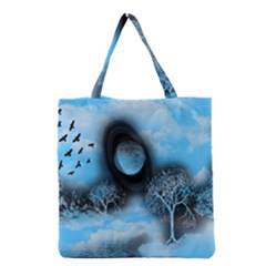 Space River Grocery Tote Bag by augustinet
