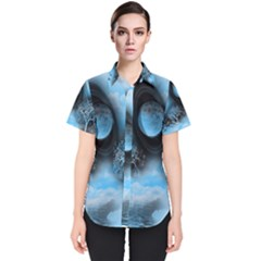 Space River Women s Short Sleeve Shirt by augustinet
