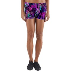 Magic Forest Yoga Shorts by augustinet