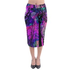 Magic Forest Midi Pencil Skirt by augustinet