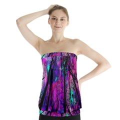 Magic Forest Strapless Top by augustinet