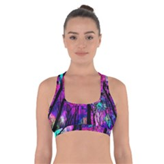 Magic Forest Cross Back Sports Bra by augustinet
