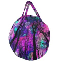 Magic Forest Giant Round Zipper Tote by augustinet