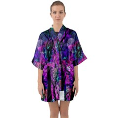 Magic Forest Quarter Sleeve Kimono Robe by augustinet