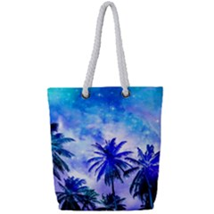 Summer Night Dream Full Print Rope Handle Tote (small)