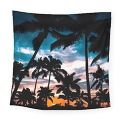 Palm Trees Summer Dream Square Tapestry (large) by augustinet