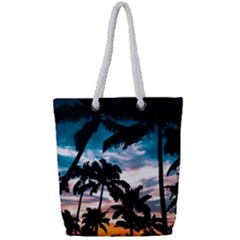 Palm Trees Summer Dream Full Print Rope Handle Tote (small)