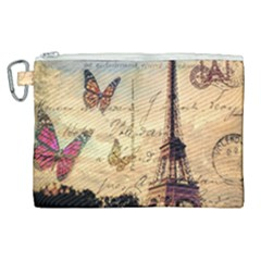 Vintage Paris Carte Postale Canvas Cosmetic Bag (xl) by augustinet