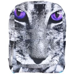 Purple Eyes Cat Full Print Backpack by augustinet