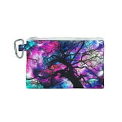 Star Field Tree Canvas Cosmetic Bag (small) by augustinet