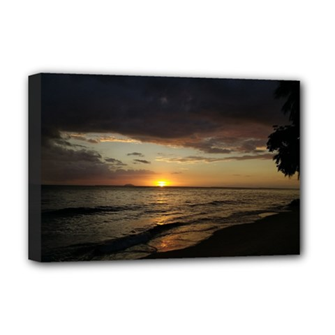 Sunset On Rincon Puerto Rico Deluxe Canvas 18  X 12   by sherylchapmanphotography