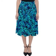 Teal Leafs Folding Skater Skirt by augustinet