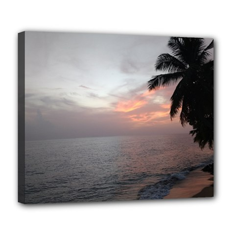 Sunset In Puerto Rico  Deluxe Canvas 24  X 20   by sherylchapmanphotography