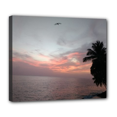 Puerto Rico Sunset Deluxe Canvas 24  X 20   by sherylchapmanphotography
