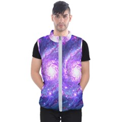 Ultra Violet Whirlpool Galaxy Men s Puffer Vest by augustinet