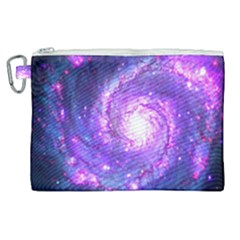 Ultra Violet Whirlpool Galaxy Canvas Cosmetic Bag (xl) by augustinet