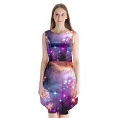 Deep Space Dream Sleeveless Chiffon Dress
