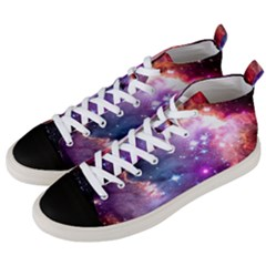 Deep Space Dream Men s Mid Top Canvas Sneakers by augustinet