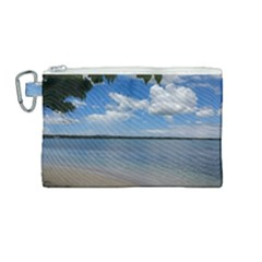 Isla Puerto Rico Canvas Cosmetic Bag (medium) by sherylchapmanphotography
