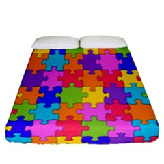 Colorful 10 Fitted Sheet (queen Size) by ArtworkByPatrick