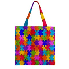 Colorful 10 Zipper Grocery Tote Bag