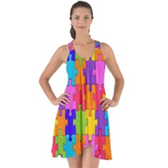 Colorful 10 Show Some Back Chiffon Dress