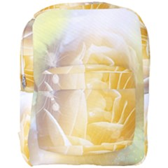 Beautiful Yellow Rose Full Print Backpack by FantasyWorld7