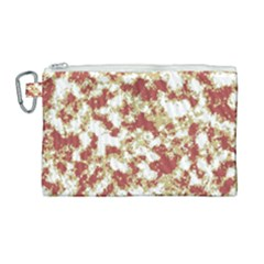 Abstract Textured Grunge Pattern Canvas Cosmetic Bag (large) by dflcprints