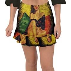 Pin Up Girl  Fishtail Mini Chiffon Skirt
