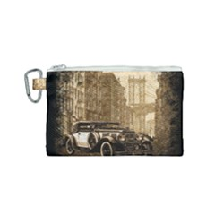 Vintage Old Car Canvas Cosmetic Bag (small) by Valentinaart