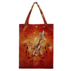 Violin With Violin Bow And Dove Classic Tote Bag by FantasyWorld7