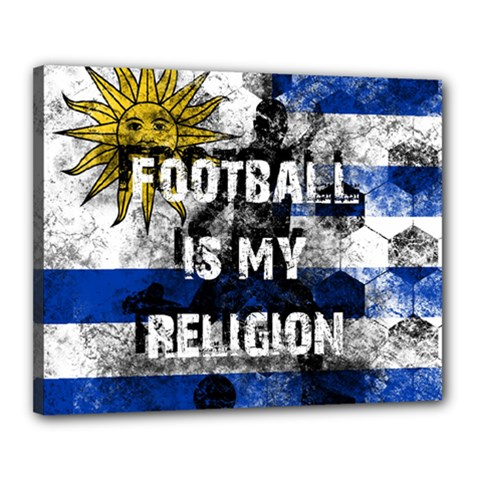 Football Is My Religion Canvas 20  X 16  by Valentinaart