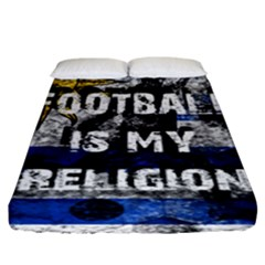Football Is My Religion Fitted Sheet (king Size) by Valentinaart