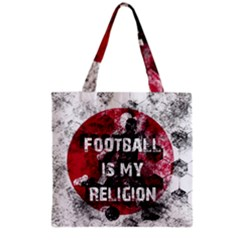 Football Is My Religion Grocery Tote Bag by Valentinaart