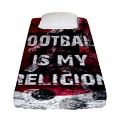 Football Is My Religion Fitted Sheet (single Size) by Valentinaart