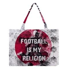 Football Is My Religion Medium Tote Bag by Valentinaart