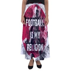 Football Is My Religion Flared Maxi Skirt