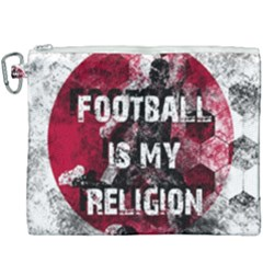 Football Is My Religion Canvas Cosmetic Bag (xxxl) by Valentinaart