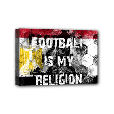 Football Is My Religion Mini Canvas 6  X 4  by Valentinaart