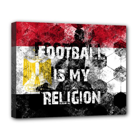Football Is My Religion Deluxe Canvas 20  X 16   by Valentinaart