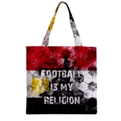 Football Is My Religion Zipper Grocery Tote Bag by Valentinaart