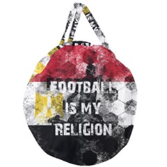 Football Is My Religion Giant Round Zipper Tote by Valentinaart