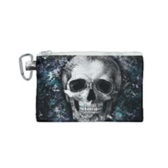 Skull Canvas Cosmetic Bag (small) by Valentinaart