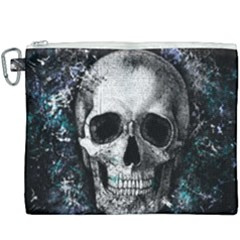 Skull Canvas Cosmetic Bag (xxxl) by Valentinaart