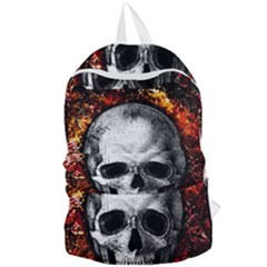Skull Foldable Lightweight Backpack by Valentinaart