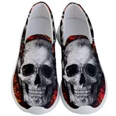 Skull Men s Lightweight Slip Ons by Valentinaart