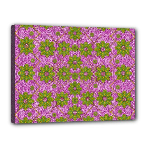 Paradise Flowers In Bohemic Floral Style Canvas 16  X 12  by pepitasart